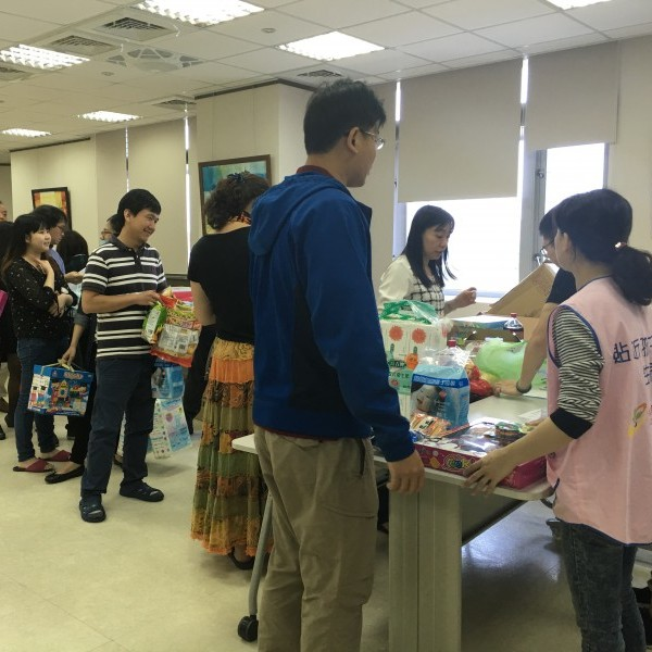 Charity sale and donations by the staffs to raise funds for Chung Yi Social Welfare Foundation