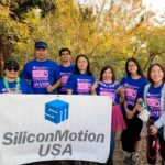 "Volunteers of Silicon Motion US Office joined ""Making Strides Against Breast Cancer"" charity event"