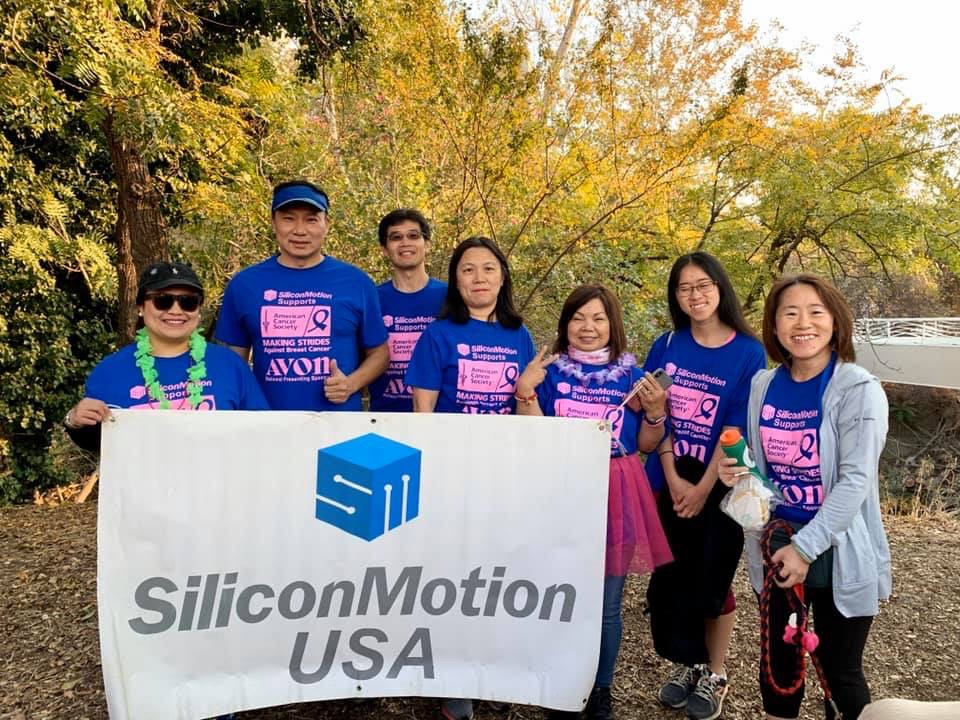 """Volunteers of Silicon Motion US Office joined """"Making Strides Against Breast Cancer"""" charity event"""